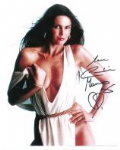 Caroline Munro signed 10 by 8 star of Dracula, Sinbad, Bond #11